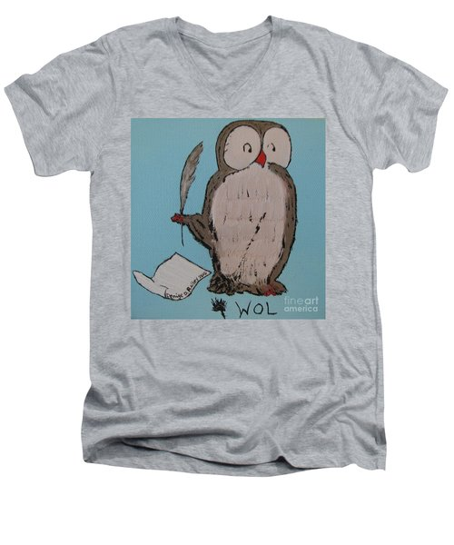 He Can Write And Read Men's V-Neck T-Shirt