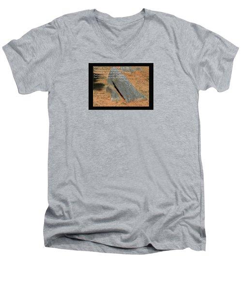 He Hideth Me In The Cleft Fanny Crosby Hymn Men's V-Neck T-Shirt