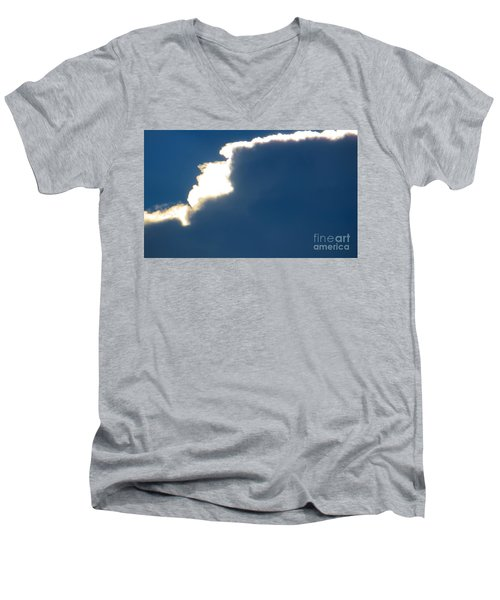 Men's V-Neck T-Shirt featuring the photograph Head In The Clouds by Joy Hardee