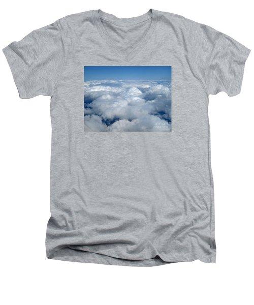 Head In The Clouds Art Prints Men's V-Neck T-Shirt by Valerie Garner