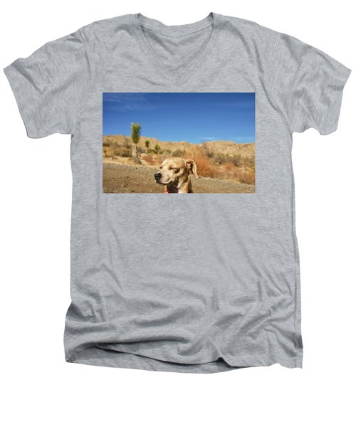 Men's V-Neck T-Shirt featuring the photograph Headache by Angela J Wright