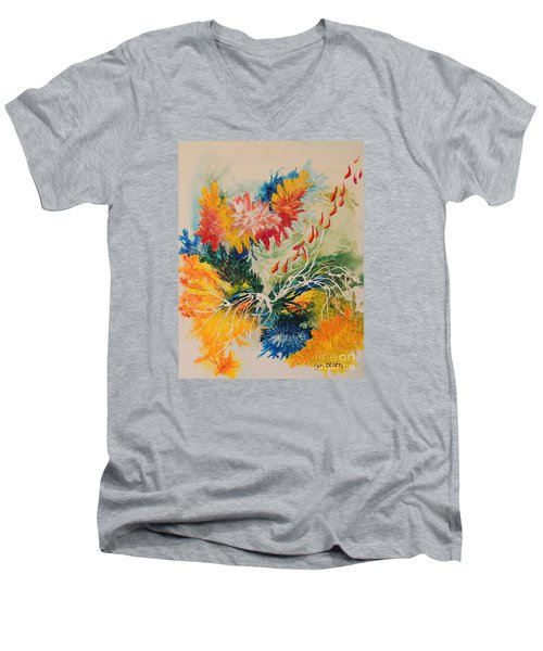 Heading Down #1 Men's V-Neck T-Shirt by Lyn Olsen