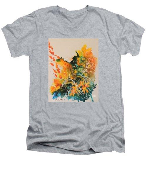 Heading Down #2 Men's V-Neck T-Shirt by Lyn Olsen