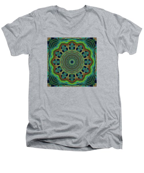 Healing Mandala 19 Men's V-Neck T-Shirt by Bell And Todd