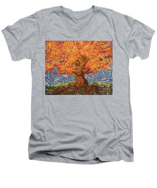 Healthy At Home Tree Men's V-Neck T-Shirt