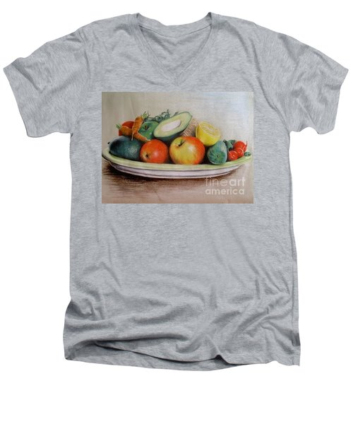 Healthy Plate Men's V-Neck T-Shirt
