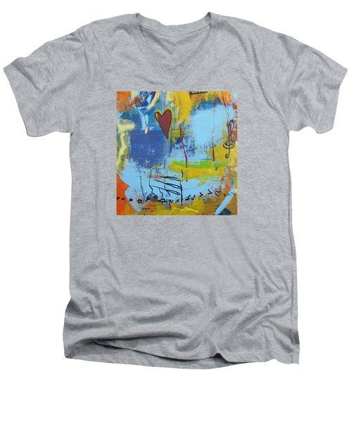 Heart 3 Men's V-Neck T-Shirt