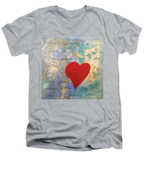 Heart #9 Men's V-Neck T-Shirt