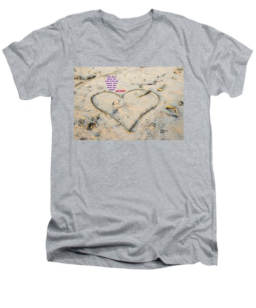 Heart And Words Men's V-Neck T-Shirt