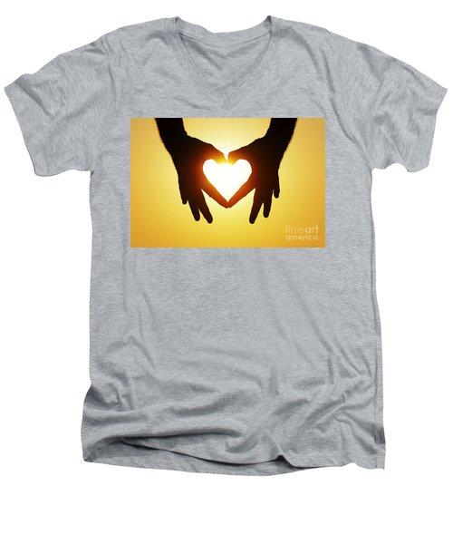 Heart Hands Men's V-Neck T-Shirt
