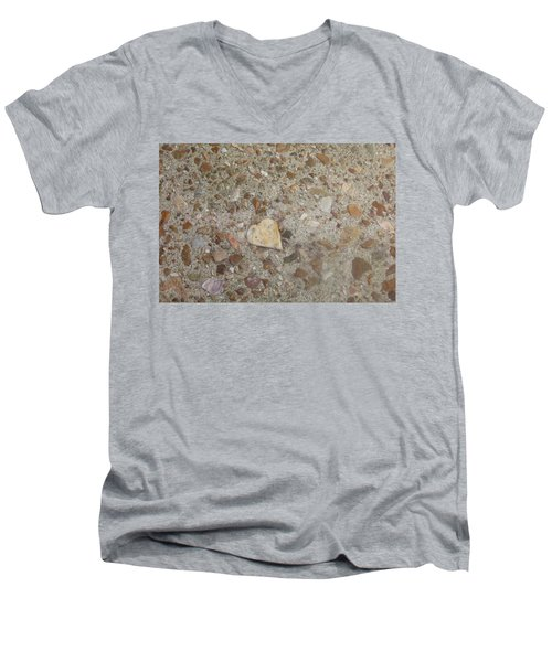 Men's V-Neck T-Shirt featuring the photograph Heart Of Stone by Fortunate Findings Shirley Dickerson