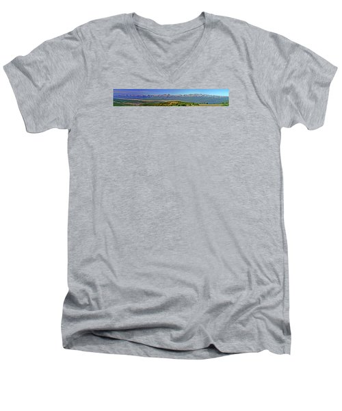 Heart Of The Sawatch Panoramic Men's V-Neck T-Shirt by Jeremy Rhoades