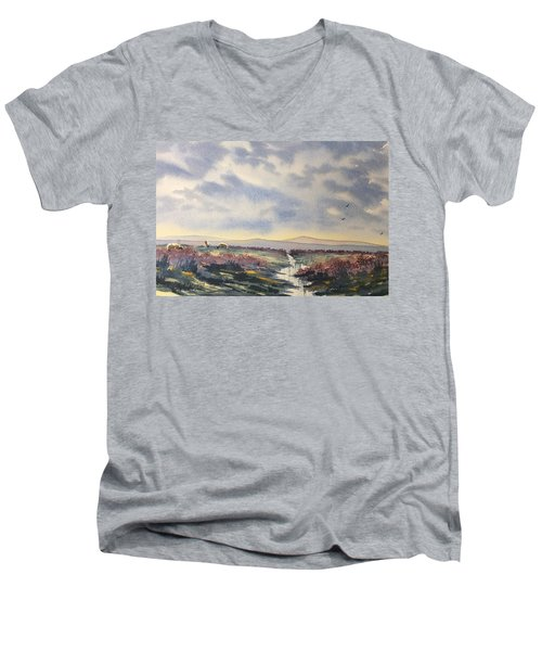 Heather On The Road To Fairy Plain  Men's V-Neck T-Shirt