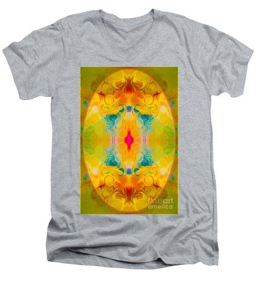 Heavenly Bliss Abstract Healing Artwork By Omaste Witkowski  Men's V-Neck T-Shirt