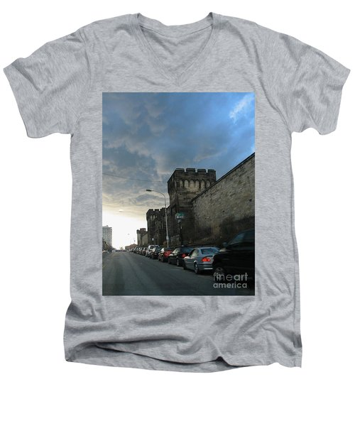 Heavy Weather Over Eastern State Men's V-Neck T-Shirt