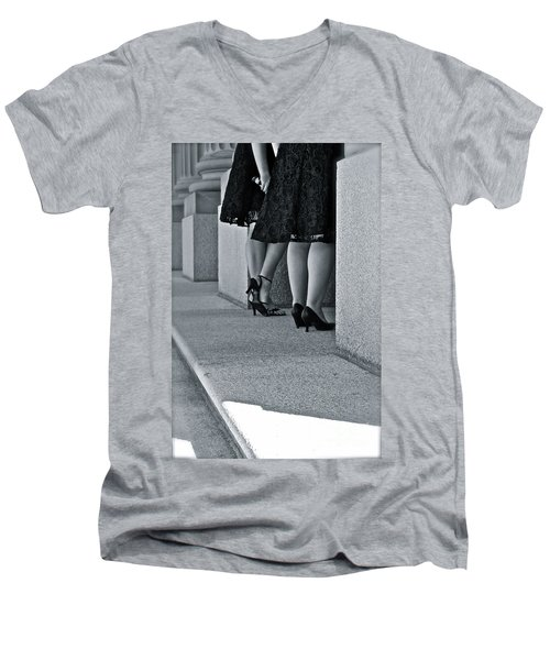 Heels And Lace Men's V-Neck T-Shirt by Linda Bianic
