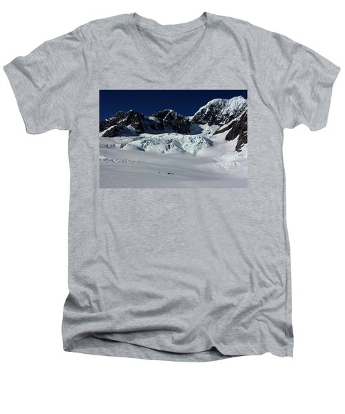 Men's V-Neck T-Shirt featuring the photograph Helicopter New Zealand  by Amanda Stadther