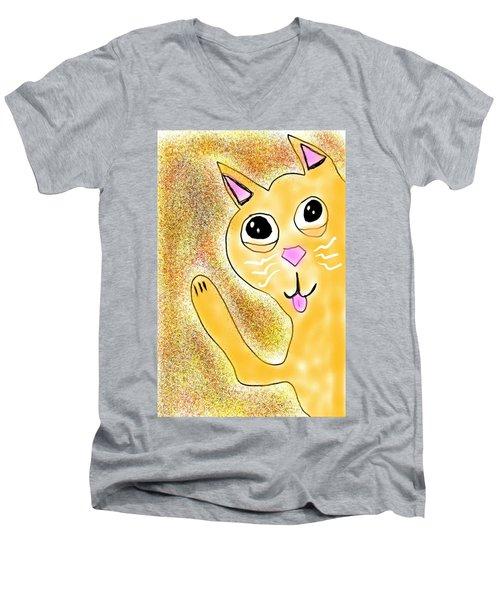 Hello Little Kitty Men's V-Neck T-Shirt