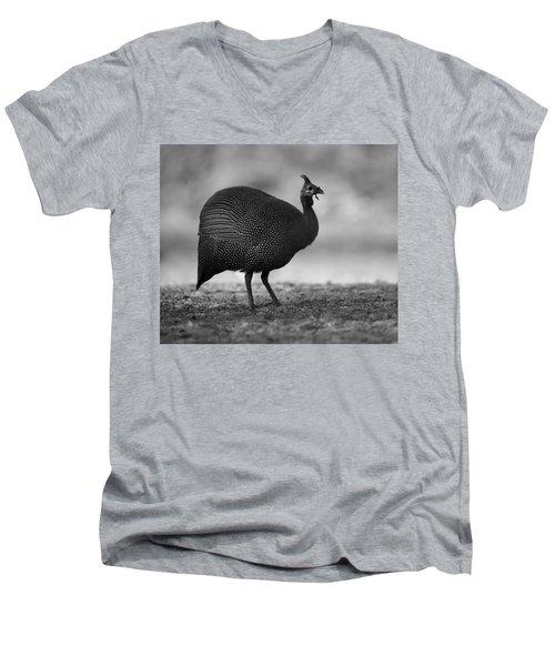 Helmeted Guineafowl Men's V-Neck T-Shirt