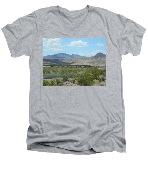 Men's V-Neck T-Shirt featuring the photograph Henderson Nevada Desert by Emmy Marie Vickers