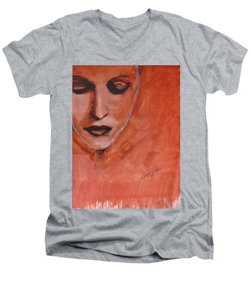 Looking To Her Soul Men's V-Neck T-Shirt