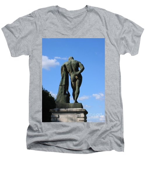 Hercules  Men's V-Neck T-Shirt by HEVi FineArt