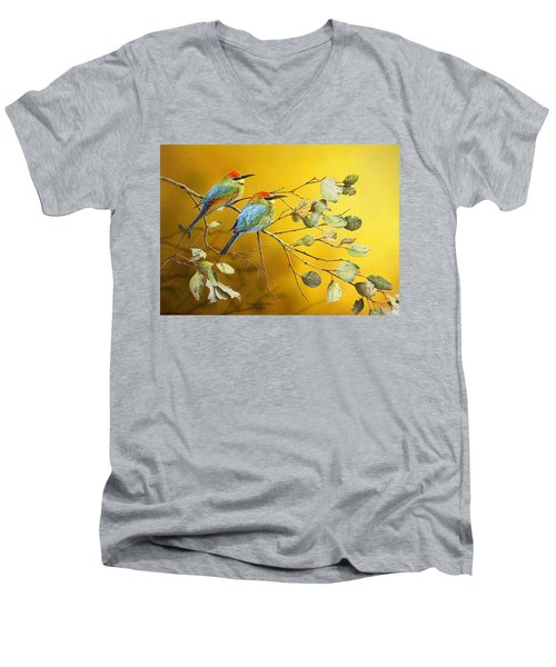 Here Comes The Sun - Rainbow Bee-eaters Men's V-Neck T-Shirt
