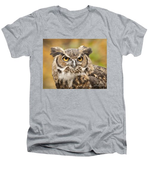 Here's Looking At You Men's V-Neck T-Shirt by Carol Lynn Coronios