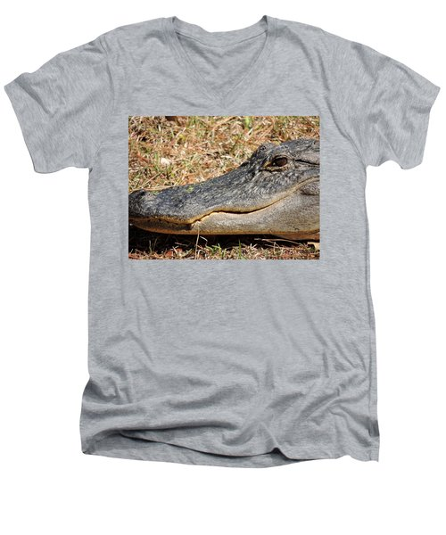 Heres Looking At You Men's V-Neck T-Shirt by Kim Pate
