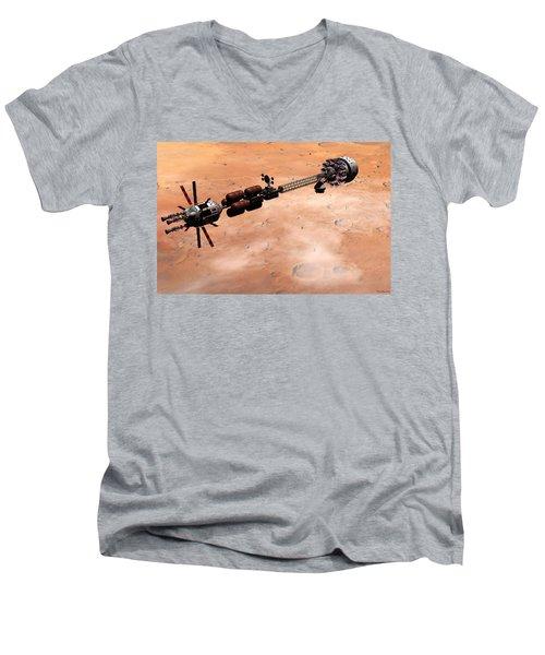 Hermes1 Over Mars Men's V-Neck T-Shirt