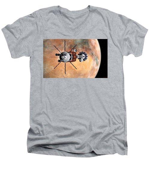 Hermes1 Realign Orbital Path Men's V-Neck T-Shirt by David Robinson
