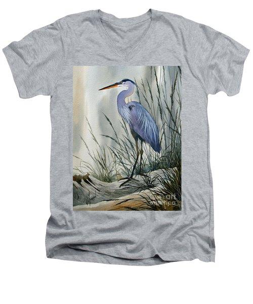 Herons Sheltered Retreat Men's V-Neck T-Shirt