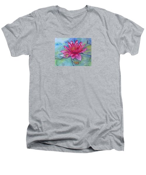 Men's V-Neck T-Shirt featuring the painting Hide And Seek by Beatrice Cloake