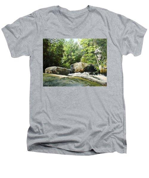 Hideaway Men's V-Neck T-Shirt