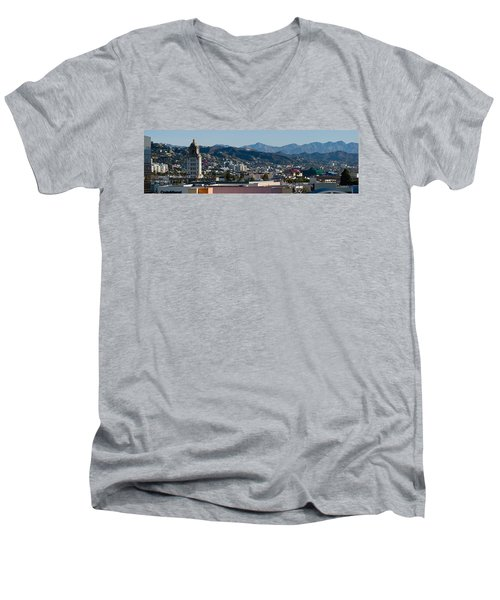 High Angle View Of A City, Beverly Men's V-Neck T-Shirt by Panoramic Images