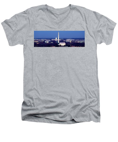 High Angle View Of A City, Washington Men's V-Neck T-Shirt