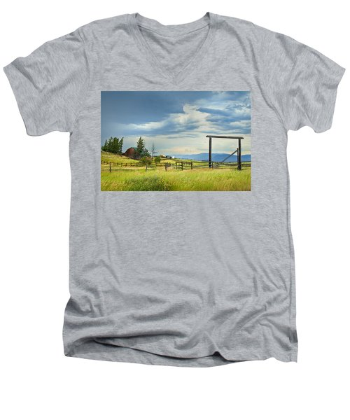 High Country Farm Men's V-Neck T-Shirt