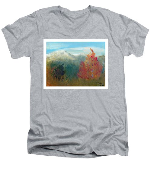 High Country View Men's V-Neck T-Shirt by C Sitton