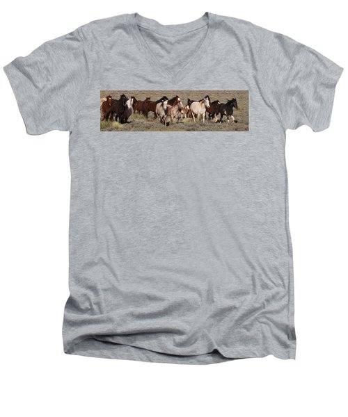 High Desert Horses Men's V-Neck T-Shirt