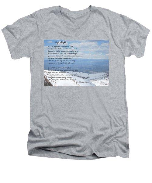 High Flight Men's V-Neck T-Shirt by Paulette B Wright
