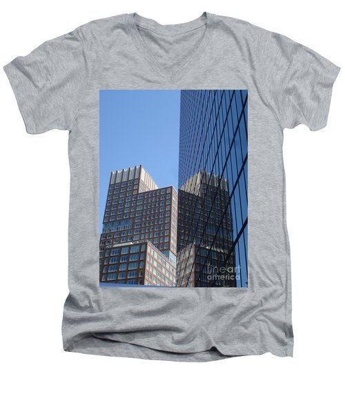 High Rise Reflection Men's V-Neck T-Shirt