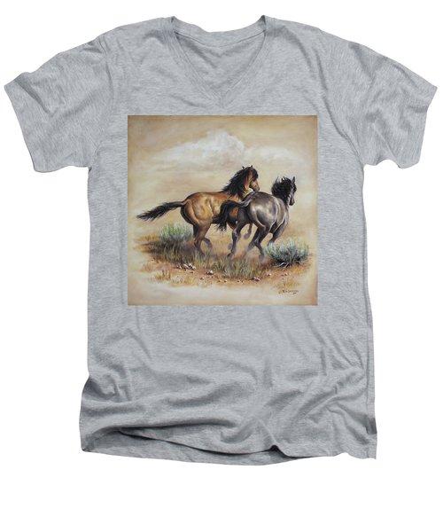 High Tailin' It Men's V-Neck T-Shirt