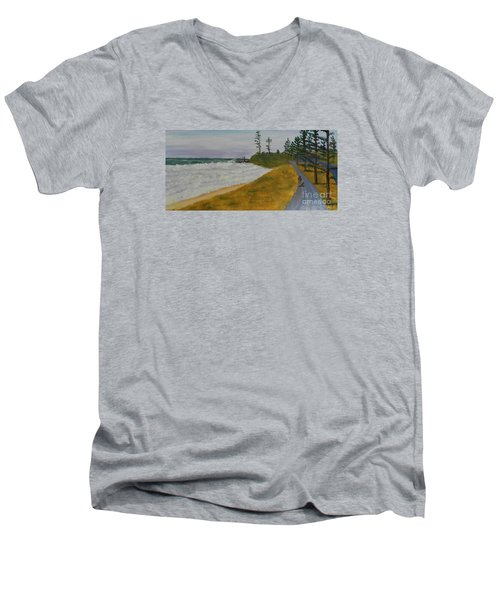 High Tide  Men's V-Neck T-Shirt by Pamela  Meredith