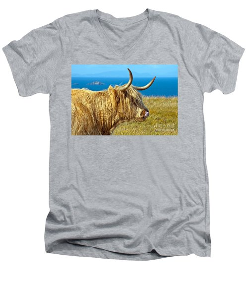 Highland Beauty Men's V-Neck T-Shirt