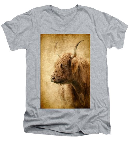 Highland Bull Men's V-Neck T-Shirt