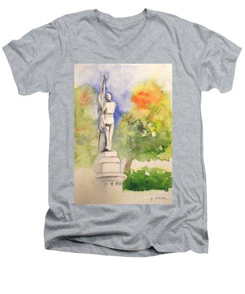 Highland Cemetery-plein Air-ypsilanti Michigan 1 Men's V-Neck T-Shirt