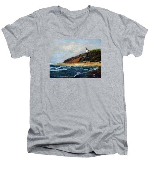 Highland Light Men's V-Neck T-Shirt by Michael Helfen