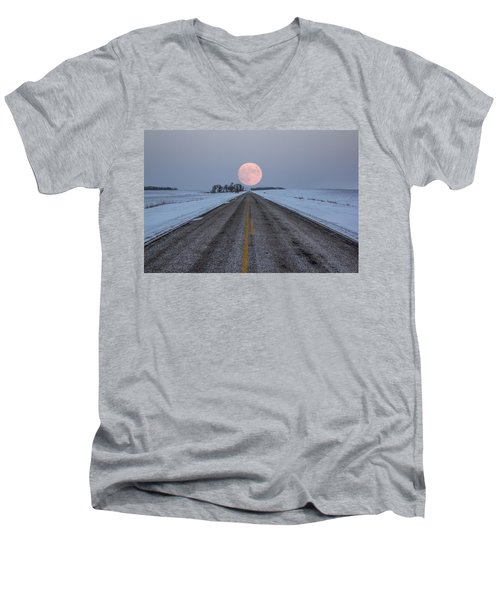 Highway To The Moon Men's V-Neck T-Shirt