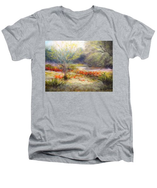 Hill Country Wildflowers Men's V-Neck T-Shirt