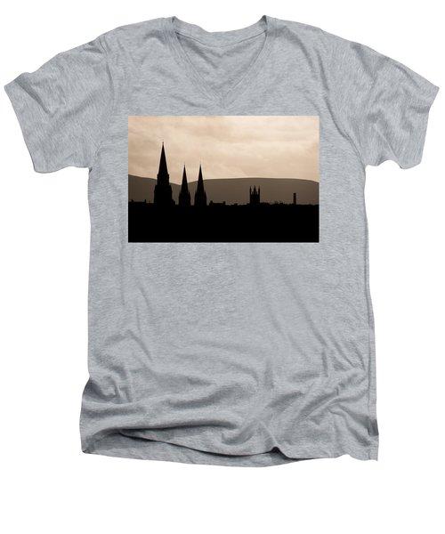 Hills And Spires Men's V-Neck T-Shirt